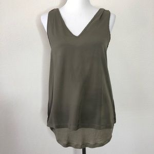 Banana Republic sleeveless Green top
